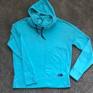 North face cow neck hoodie